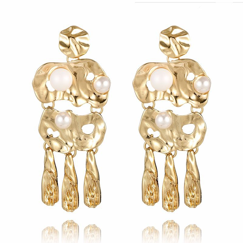 Fashion Alloy plating earring(Golden)NHGY1545-Golden
