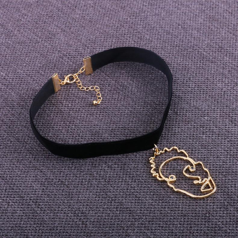 Fashion OL alloy plating necklace NHBJ0261