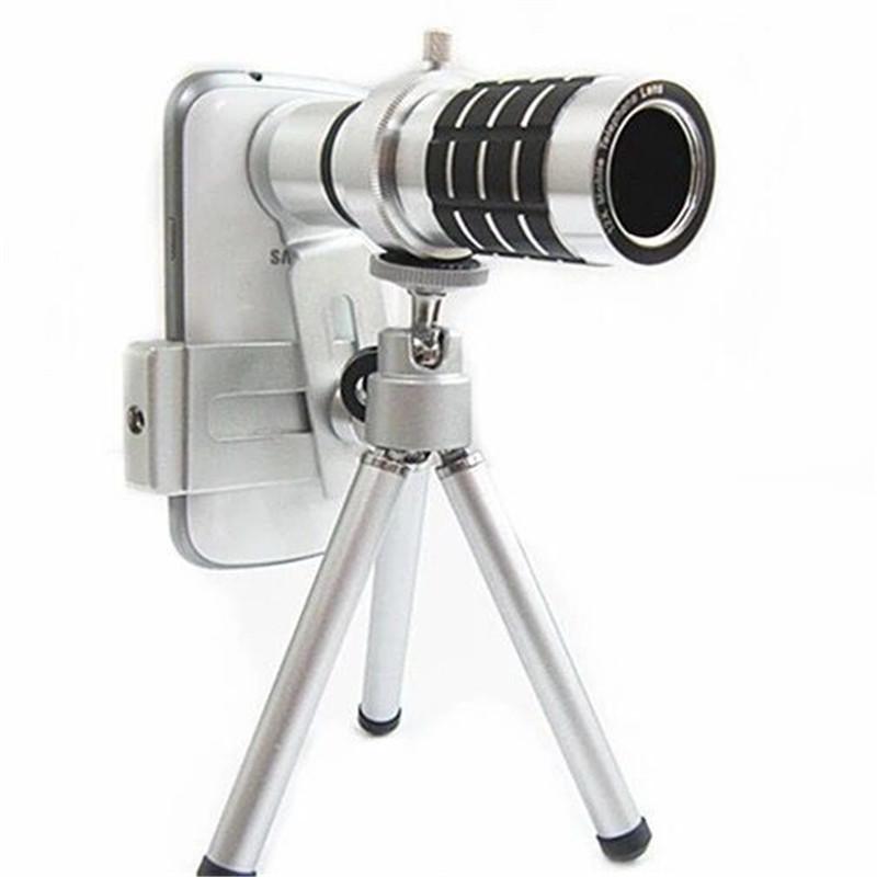 12倍通用手机望远镜 金属12倍长焦镜头配送三脚支架高清镜头