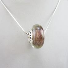 银质925 diy星空琉璃珠项链可定制多色琉璃大孔饰品配件吊坠