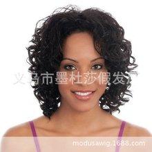 Foreign trade popular black wig European and American women fashion slant bangs partial split set sw7591