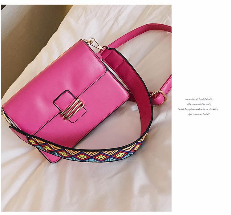 Korean version PUShoulder bag (Rose red)NHPB0416-Rose red