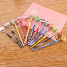 可爱带橡皮卡通铅笔幼儿园奖品赠品创意学习文具儿童学生HB铅笔T