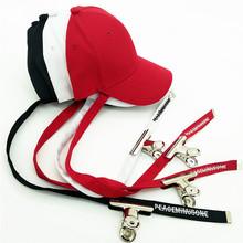 ?#21512;?#23395;权志龙GD同款潮?#20449;?#40657;色夹子棒球帽子?#21487;?#38271;带子休闲嘻哈帽