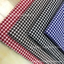 涤棉色织小格子布 经典小方格格纹面料 童装衬衫连衣裙面料 现货