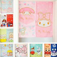 日式和风可爱猫门帘双子星美乐迪门帘布艺面包超人玄关厨房挂帘