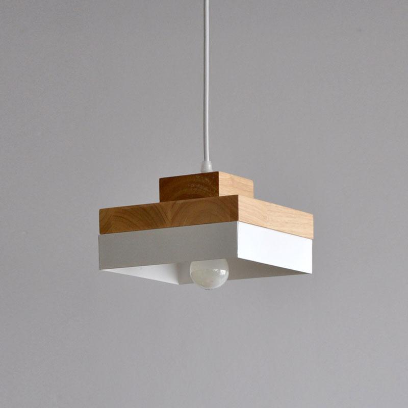 日式吊灯餐厅厨房床头过道阳台装饰创意个性铁艺方形圆形实木灯具