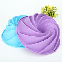 硅胶大漩涡烤盘 旋风形蛋糕模 DIY烘培工具 厂家直销