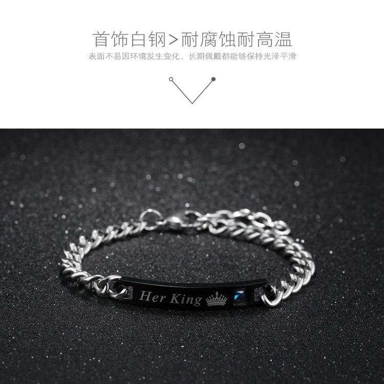 simple romantic fashion zircon titanium steel bracelet NHOP313498