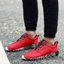 2018年春季新款网布鞋男透气轻便学生运动鞋跑步鞋大码男鞋厂家