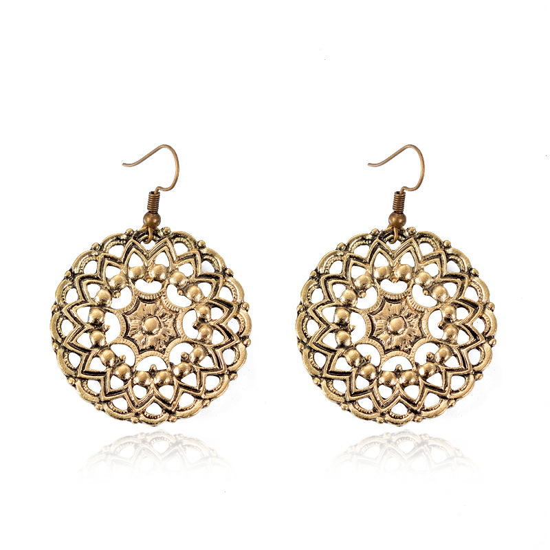 Bohemia Alloy plating earring Geometric (Ancient gold)NHGY1593-Ancient gold