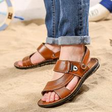 批发春季新款男沙滩鞋 潮流透气男凉鞋 两用凉拖男鞋休闲男士凉鞋