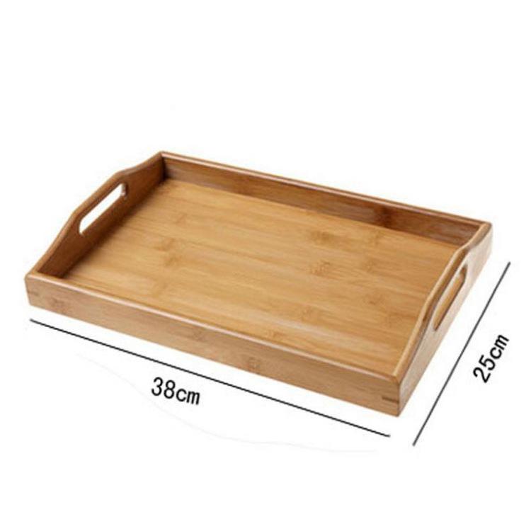竹制创意实木竹托盘 酒店餐厅长方形竹木质盘 竹制茶盘批发