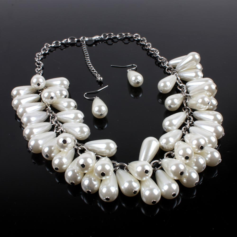 Occident and the United States pearlnecklace (creamy-white)NHCT0076-creamy-white
