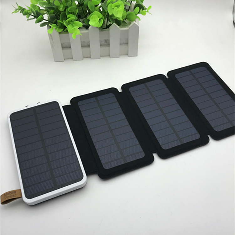 厂家直销powerbank便捷式太阳能充电宝天能多叠户外移动电源通用