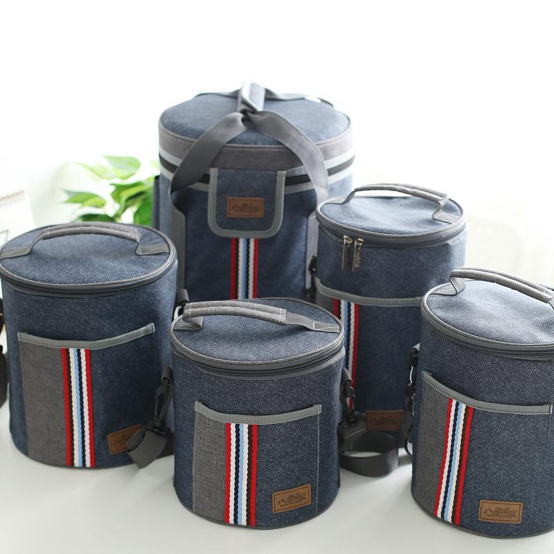 新款保温桶专用便当袋 牛津布保温包 加厚圆形饭盒包厂家直销