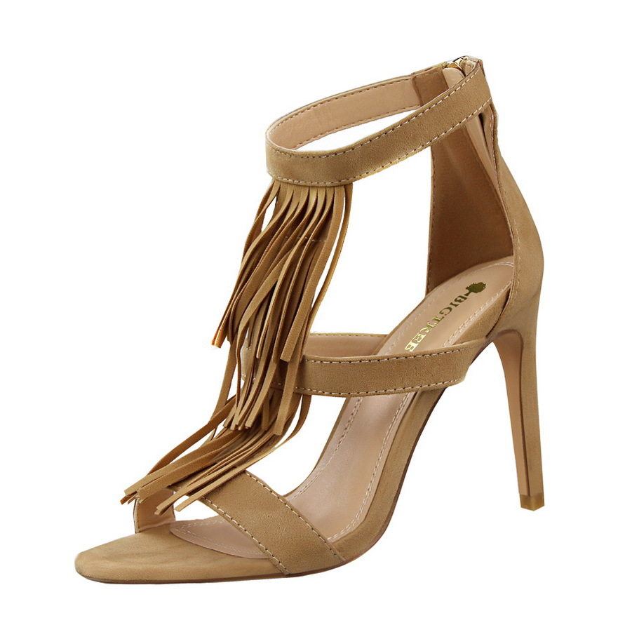 Tassel high heels in Khaki's main photo