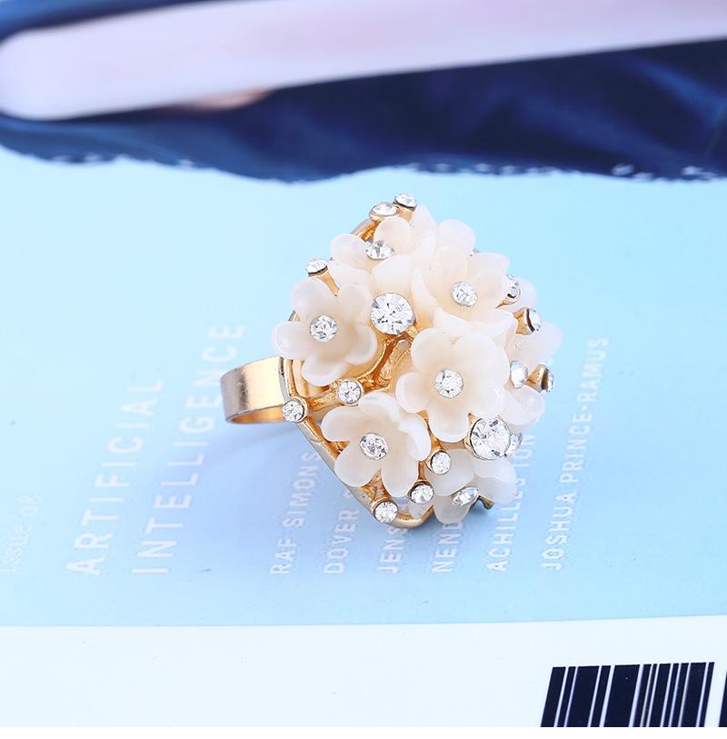 Fashion OL alloy plating Ring (KC Gold - White - One Size)NHKQ1157-KC Gold - White - One Size