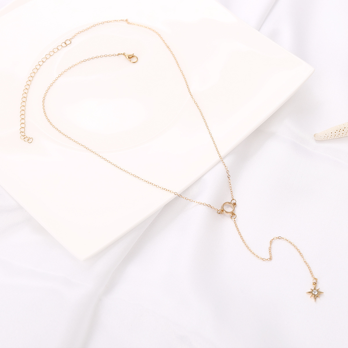 Fashion Alloy plating necklace Geometric (Gold -1656)NHXR1649-Gold -1656