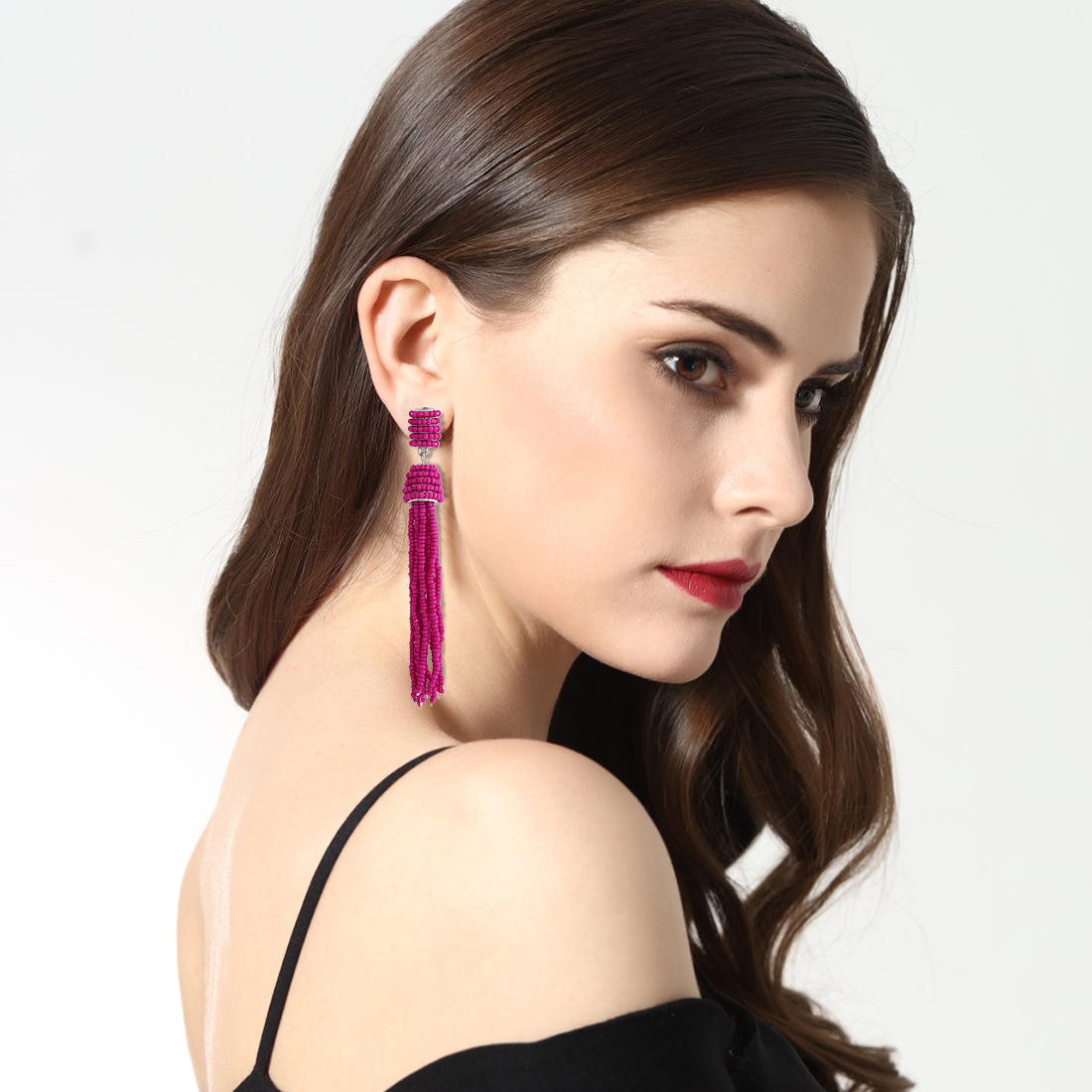 Retro alloy manual earring (color)NHNMD3798-color