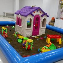 厂家多规格植物沙滩玩具充气沙池 儿童沙滩乐园游乐设施