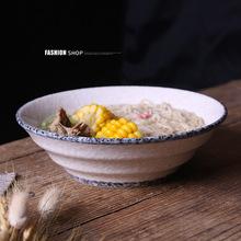 日式面碗創意餐具家用陶瓷碗湯碗 釉下彩碗盤碟套裝定制廠家直銷