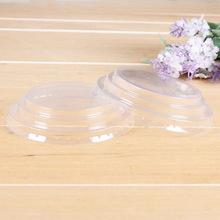 新款通用ps塑料圓形奶茶飲料杯蓋 批發透明吸塑豆漿果汁紙杯蓋子