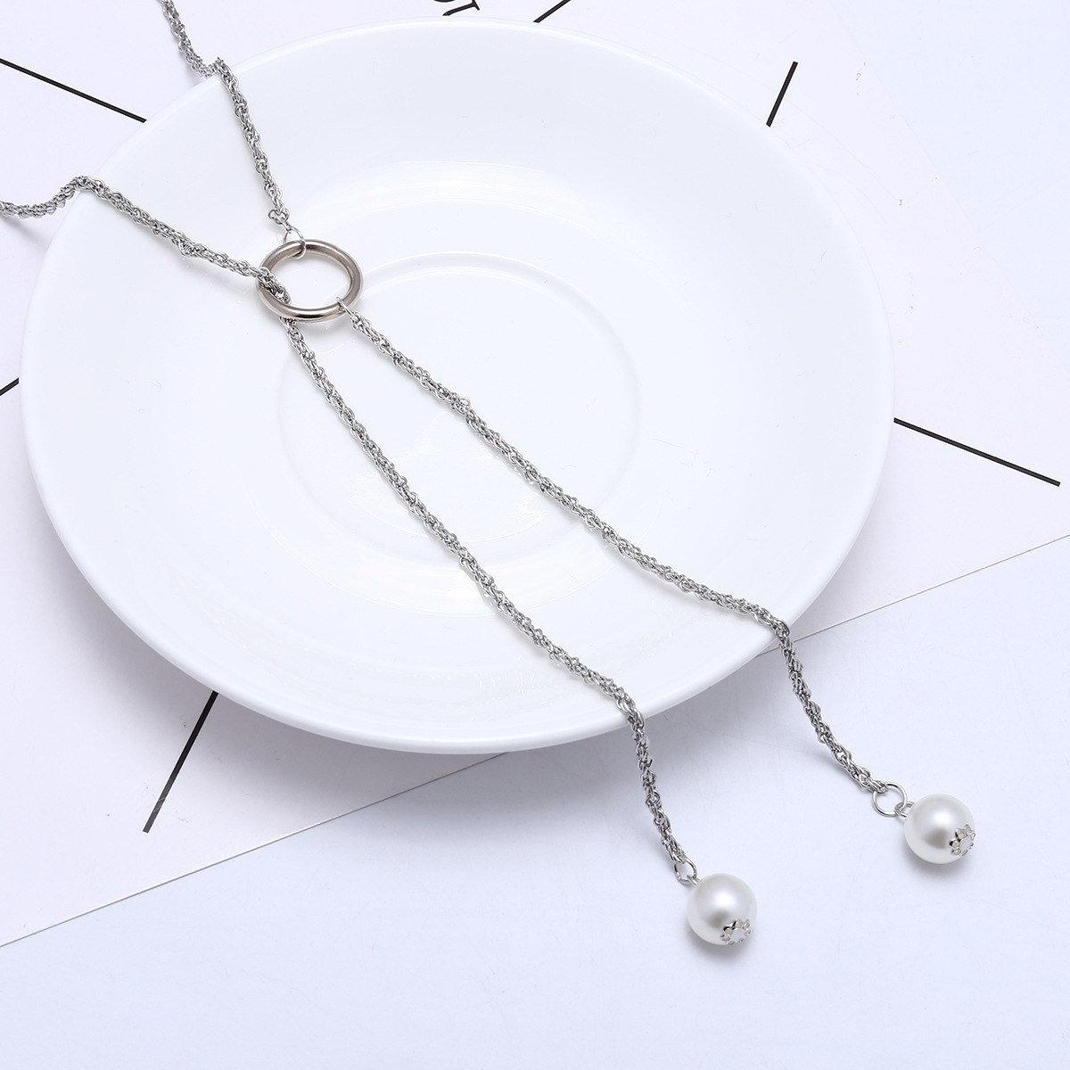 Simple Plastic necklace Geometric NHXR1774-A alloy color 1744