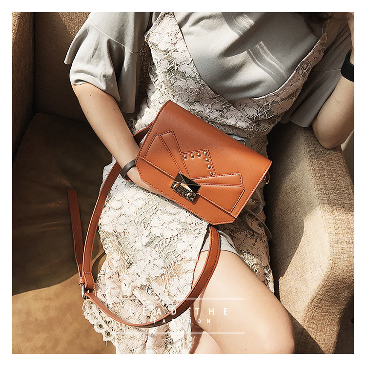 Korean version PUfashion bag (brown)NHPB0256-brown