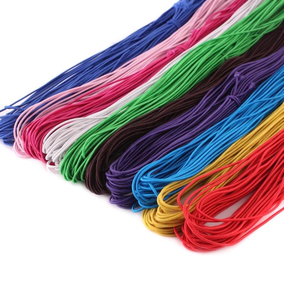 厂家直销1-15mm包芯弹力绳 DIY串珠绳  彩色弹力绳 圆松紧 包装绳