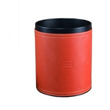 厂家定制高档皮质皮革垃圾桶商务办公楼废纸篓家居酒店客房收纳桶