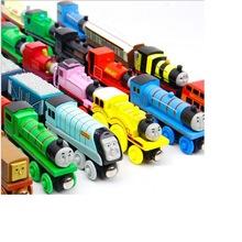 批发木质儿童磁性小火车玩具 混批儿童木质轨道车车模型