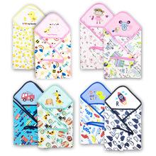 新款婴儿抱被新生儿包巾包被夏季宝宝裹布包布抱毯套头毯浴巾秋冬