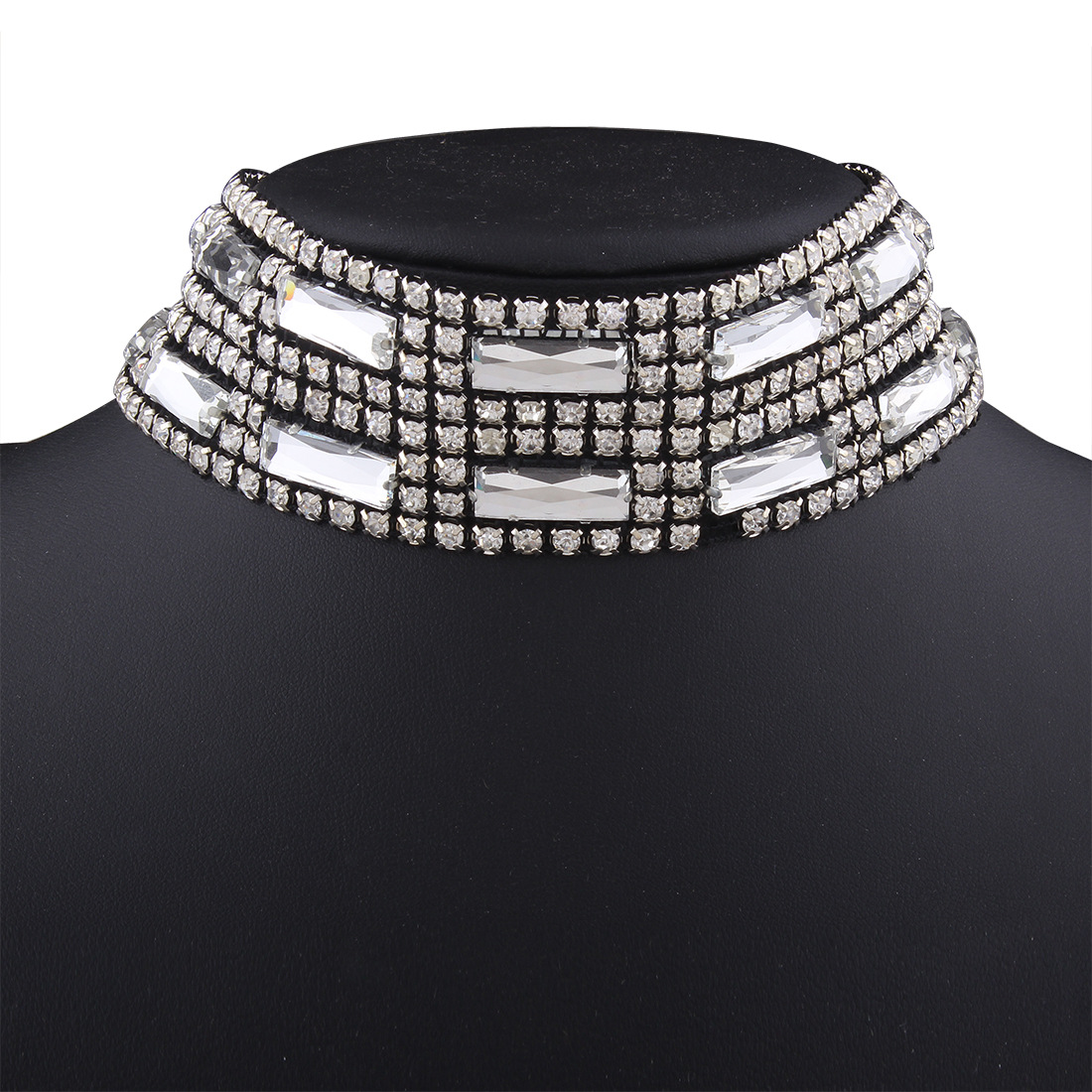 Occident and the United States alloy Diamond necklace (White K)NHNMD3778-White K