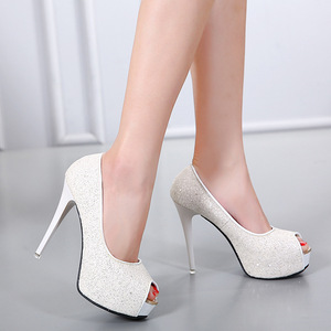 Peep toe & platform Women's high heels