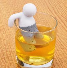 硅膠泡澡小人泡茶器懶人濾茶器紅茶茶包創意功夫茶具茶葉過濾器