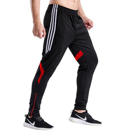 Quần thể thao nam slim quần thường xuyên wicking thoáng khí phần đào tạo tập thể dục quần quần bóng đá cưỡi phù hợp Quần thể thao nam