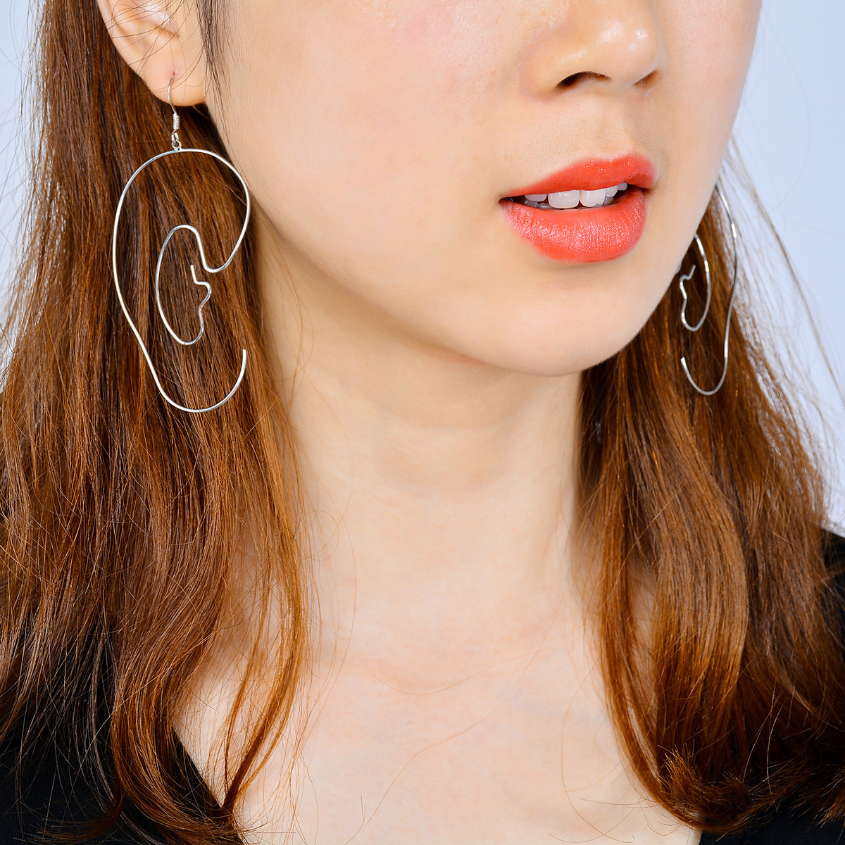 Occident and the United States alloy plating earring (B0353 gold)NHXR1446-B0353 gold