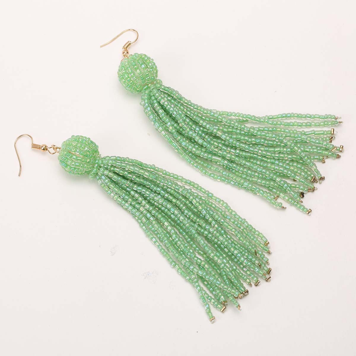 Occident and the United States alloy plating earring (B0727 green)NHXR1461-B0727 green