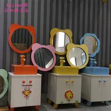 儿童卫生间镜子 幼儿园洗手间彩色卫浴镜 批发小孩子挂式浴室镜