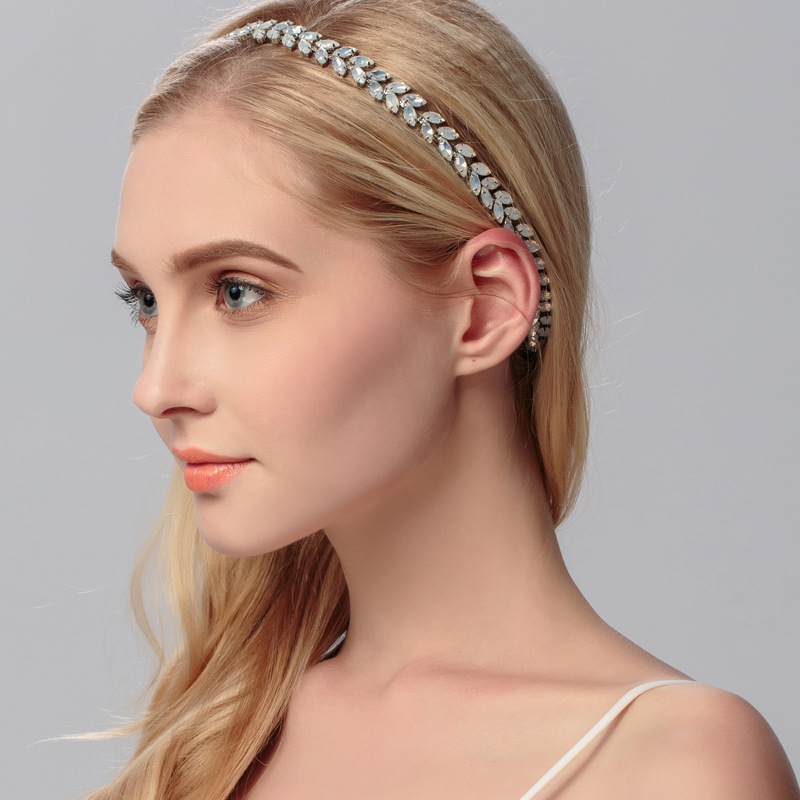 Alloy Fashion Geometric Hair accessories  (Elastic hair band with alloy) NHHS0012-Elastic hair band with alloy