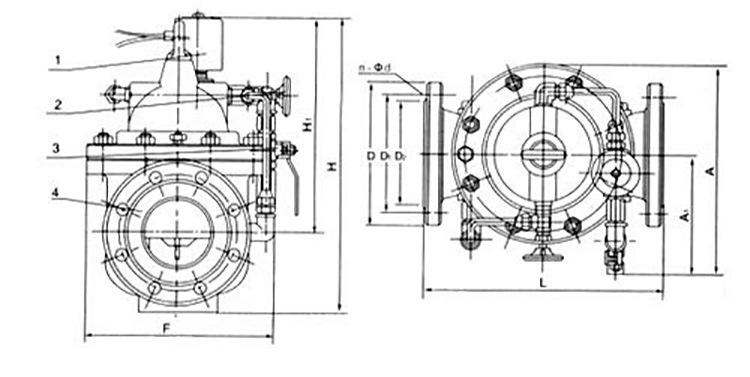 600X水力電動控制閥部件圖