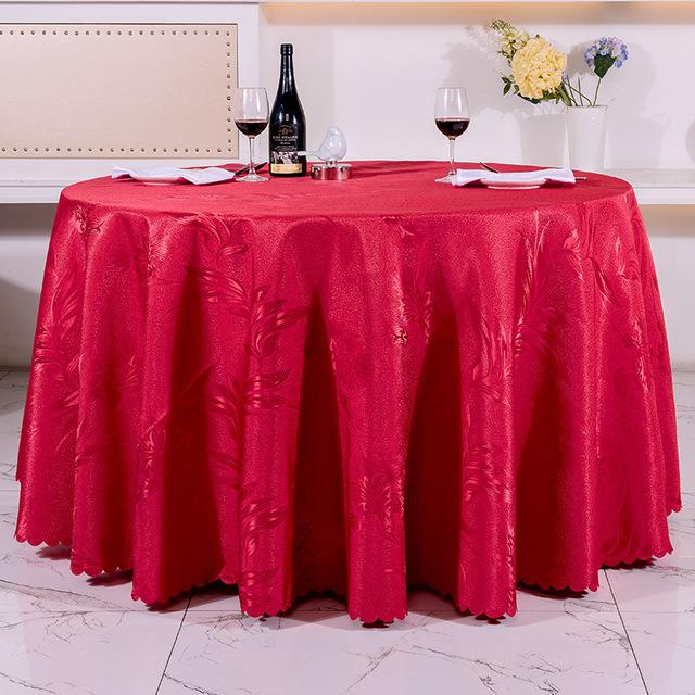 批发定做酒店桌布餐厅饭店客厅圆形方形桌布水洗加厚台布餐桌台裙