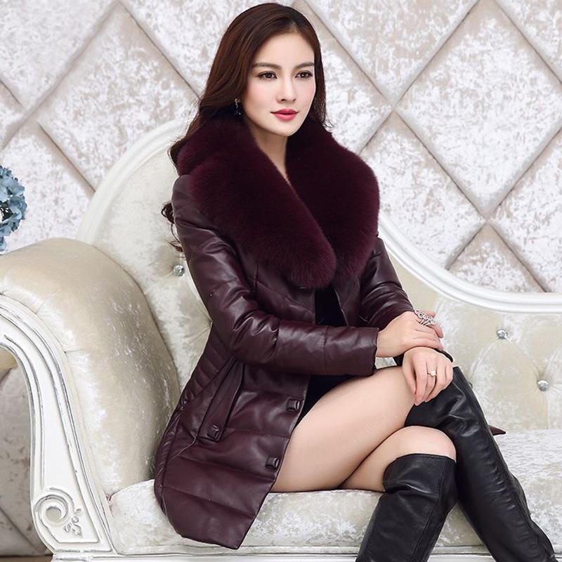 羽绒服女2018冬季新款女装韩版仿狐狸毛皮衣女中长款大码女装棉服