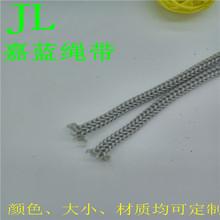 厂家直销345678MM精细白色环保丙纶针通绳钩针空心绳束口袋抽绳子