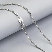 厂家直销 S925纯银项链女款 车花瓜子链 简约时尚饰品批发 银配链