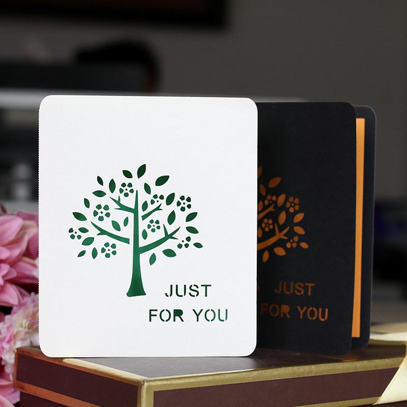 厂家直销 圣诞树迷你小贺卡 节日祝福小卡片定制