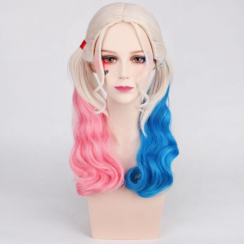 Cosplay wig movie suicide team harleen quinzel clown Harley quinzel wig
