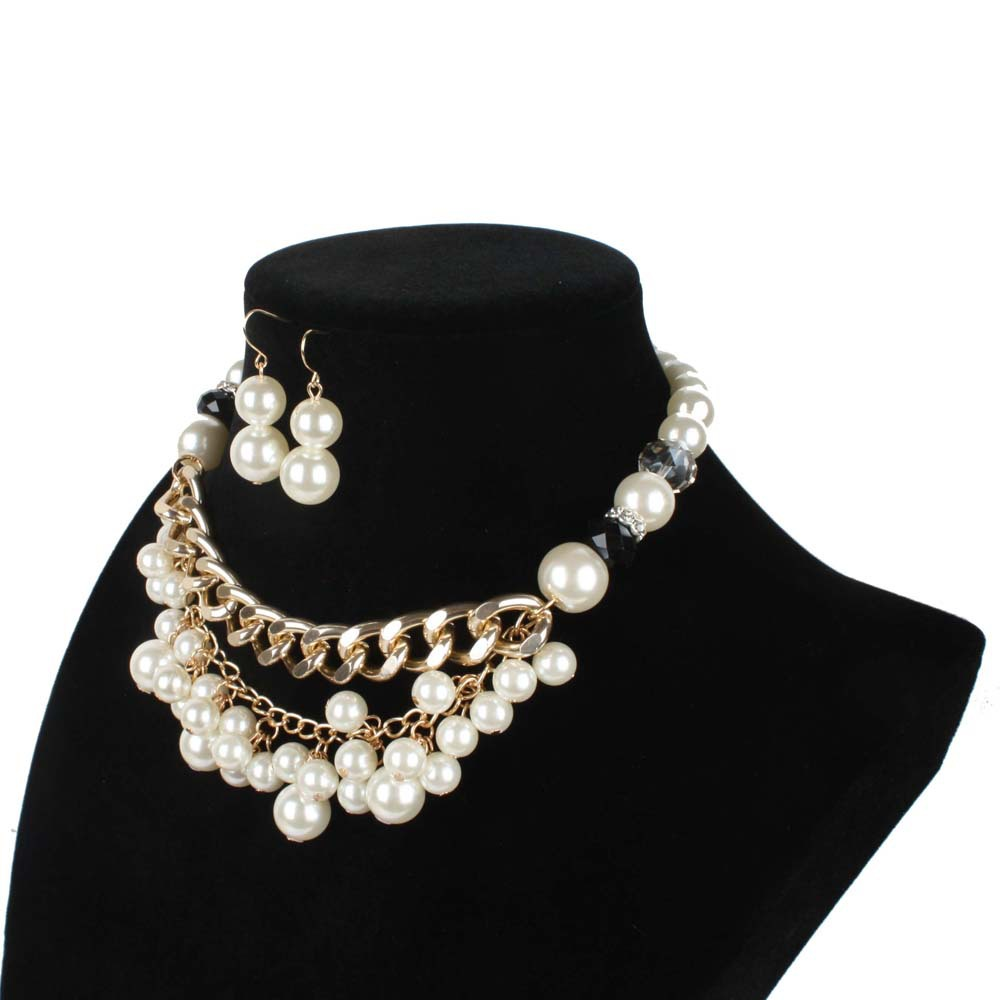 Occident and the United States pearlnecklace (creamy-white)NHCT0100-creamy-white