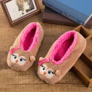 秋冬新款保暖珊瑚绒圣诞室内鞋地板鞋毛毛圣诞鞋女冬季